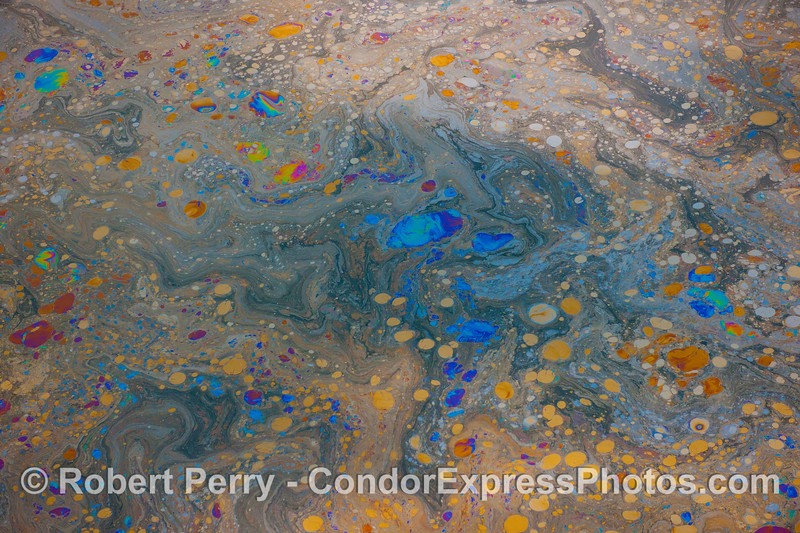 Abstract ocean surface - galaxies far and near