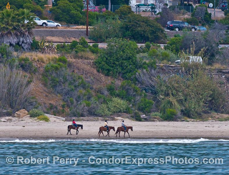 horse riders on beach Summerland 2015 04-24 SB Coast-001