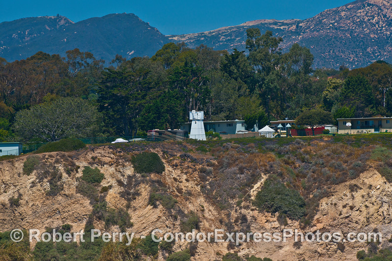 Santa Barbara Light tower and US Coast Guard facilities