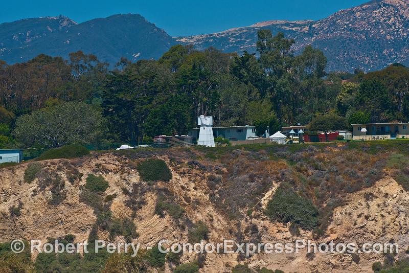 Santa Barbara Light tower and US Coast Guard facilities