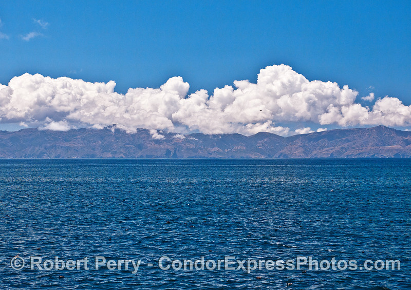 Cloud formations above Santa Cruz Island