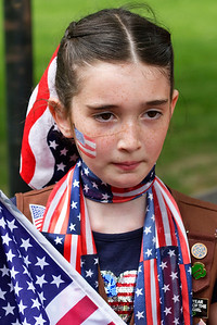 Girl Scout in the Franklin Memorial Day parade.