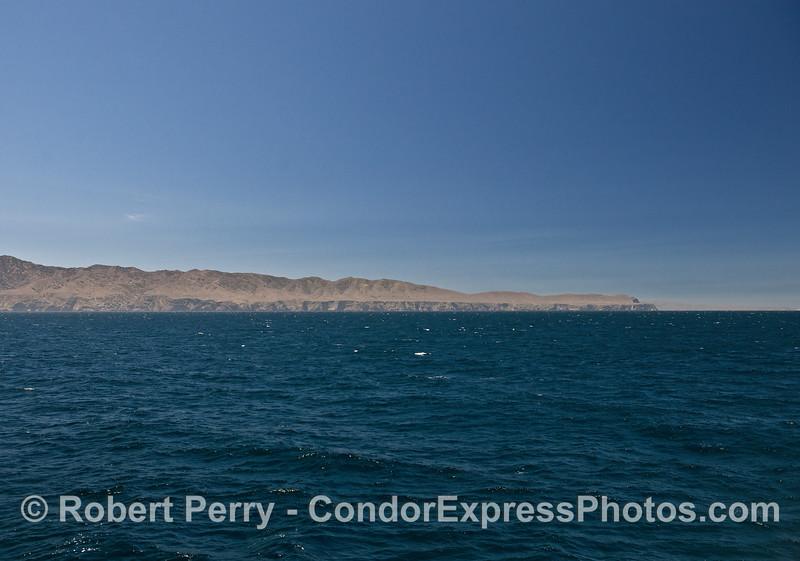The northwest corner - Santa Cruz Island.