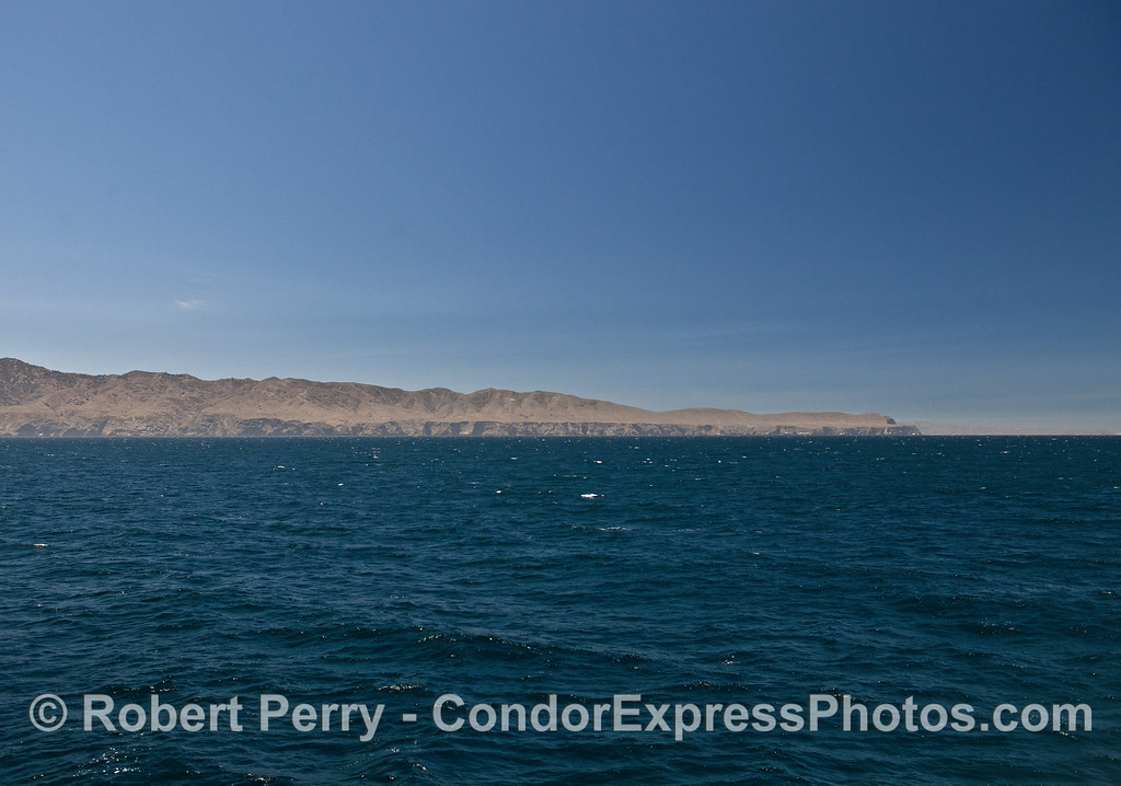 The northwest corner - Santa Cruz Island.