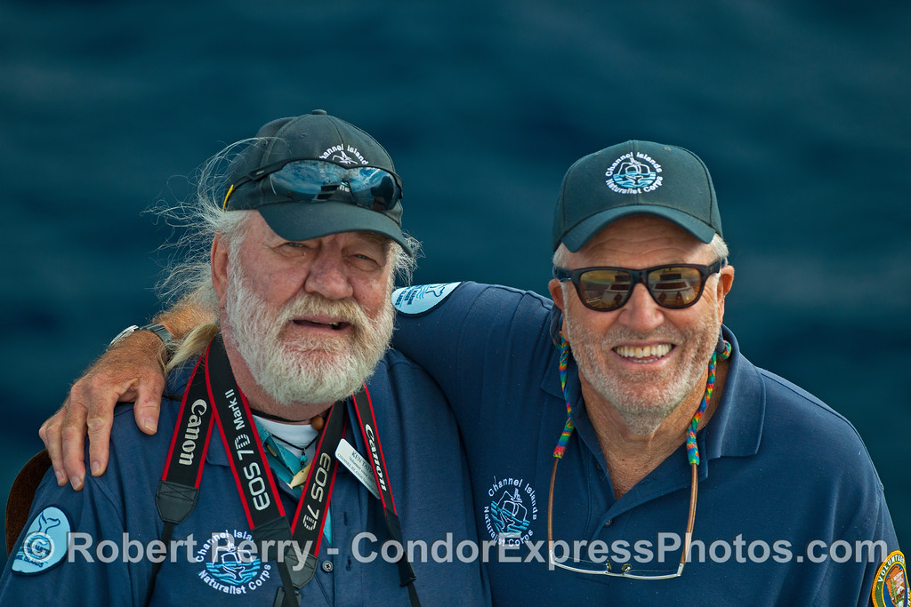 Channel Islands National Marine Sanctuary volunteers Ken and John.