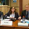 From left: Mr Högni Kristjansson, Director, Ministry of Foreign Affairs, Iceland; Abmassador Bergdis Ellertsdottir, and Mr Ragnar Kristjansson, Mission of Iceland to the EU (© European Union)