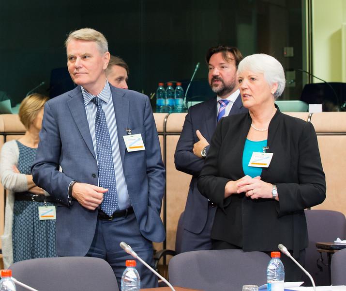 Members of the Efta Surveillance Authority's College. From left: Sven Erik Svedman, President; Frank J. Büchel, College Member; and Helga Jónsdóttir, College Member