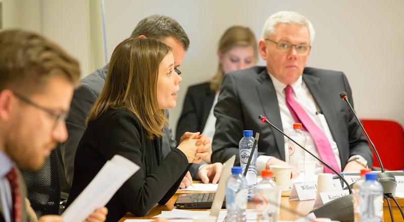 Ms Katrín Jakobsdóttir, Parliamentary Committee, Left-Green Movement, Iceland and Mr Vilhjálmur Bjarnason, Parliamentary Committee, Independence Party, Iceland