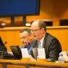 From Left: Mr Claude Maerten, EU President of the EEA Joint Committee; Ms Amelia Padurariu, Desk Officer, SINEEA delegation; Mr Jørn Dohrmann, Denmark, Member of the European Parliament;  Mr Elfried Hasler, Member of the Liechtenstein Parliament; and Anne Margrethe Lund, Temporary Officer at EFTA