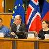 From Left: Mr Jørn Dohrmann, Denmark, Member of the European Parliament;  Mr Elfried Hasler, Member of the Liechtenstein Parliament; and Anne Margrethe Lund, Temporary Officer at EFTA