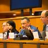 From Left: Mr Claude Maerten, EU President of the EEA Joint Committee; Ms Amelia Padurariu, Desk Officer, SINEEA delegation; Mr Jørn Dohrmann, Denmark, Member of the European Parliament;  and Mr Elfried Hasler, Member of the Liechtenstein Parliament