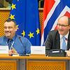 From Left: Mr Jørn Dohrmann, Denmark, Member of the European Parliament; and Mr Elfried Hasler, Member of the Liechtenstein Parliament