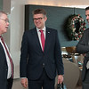 Mr Vilhjálmur Bjarnason, Member of the Icelandic Parliament; Mr Gunnar Bragi Sveinsson, Minister for Foreign Affairs and External<br /> Trade; and Mr Martin Eyjólfsson, Ambassador, Permanent Representative Permanent Mission of Iceland, Geneva.