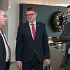 Mr Vilhjálmur Bjarnason, Member of the Icelandic Parliament; Mr Gunnar Bragi Sveinsson, Minister for Foreign Affairs and External<br /> Trade; and Mr Martin Eyjólfsson, Ambassador, Permanent Representative Permanent Mission of Iceland, Geneva.