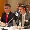 Mr. Gunnar Bragi Sveinsson, Minister for Foreign Affairs and External Trade, Iceland, and Mr. Martin Eyjólfsson, Ambassador, Permanent Representative Permanent Mission of Iceland, Geneva.