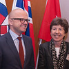 Mr Vidar Helgesen, Minister of EEA and EU Affairs at the Office of the Prime Minister of Norway, and Ms Kathy Riklin, Christian Democratic Party, Switzerland