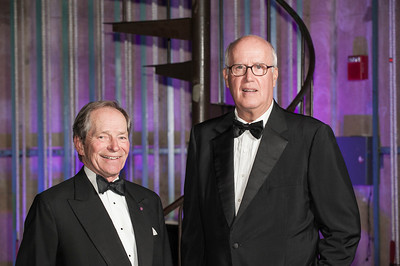 Honoree John R. Rockwell, W'64, WG'66 and presenter L. John Clark, W'63, WG'68.