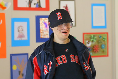 IMG_0109 - Fred Beebe shows off his Red Sox gear