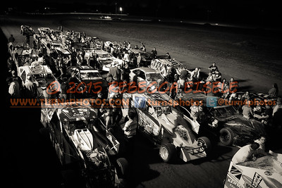 Frontstretch during autograph session