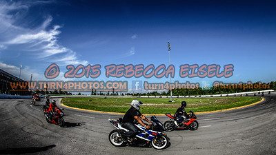Motorcycle riders wide angle hdr