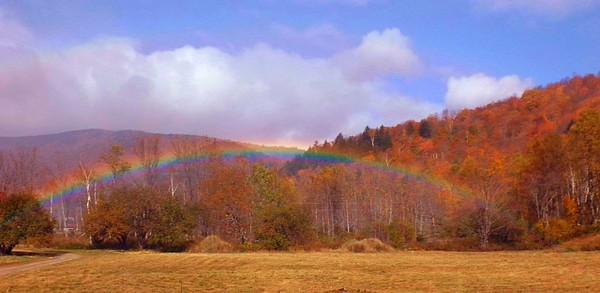 rainbow on my property, Bridgewater, Vermont