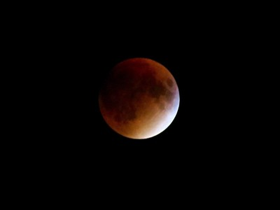Full Harvest Moon during lunar eclipse,  Hartland Vermont   Jo-Ann Ecker
