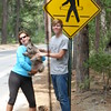 #1 - Funny Sign part 2<br />  Hula Hooping with the crosswalk man.