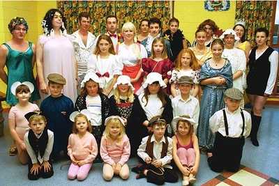 FOR STORY    The cast of West Butterwick Millennium Players production of 'Cinderella' at the Village Hall. S101200C