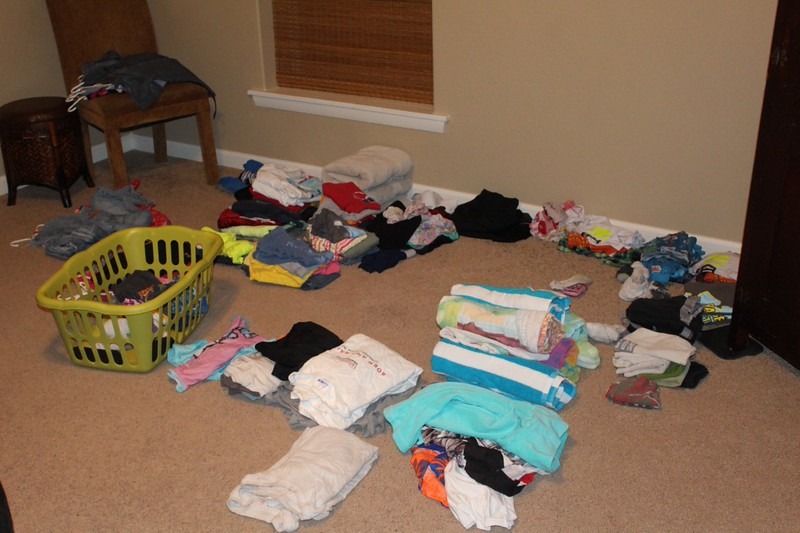 The daily mound of laundry!