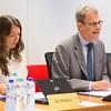 Ambassador Atle Leikvoll, Mission of Norway to the EU, chairing the EEA Joint Committee on 10 July 2015. To his right, Ms. Mirjam Ehl, Mission of Norway to the EU (Photo: Carlos de la Morena, EFTA Secretariat).