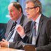Ambassador Atle Leikvoll, Mission of Norway to the EU, chairing the EFTA Standing Committee on 8 July 2015. To his right, Secretary-General Kristinn F. Árnason, EFTA (Photo: Carlos de la Morena, EFTA Secretariat)