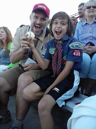 20150822 - Scout Night at the Spokane Indians