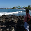 1st view of Kona beaches... or lack thereof.
