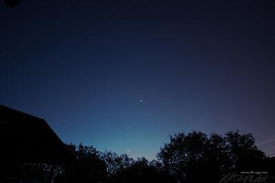 Jupiter, Mars and Venus