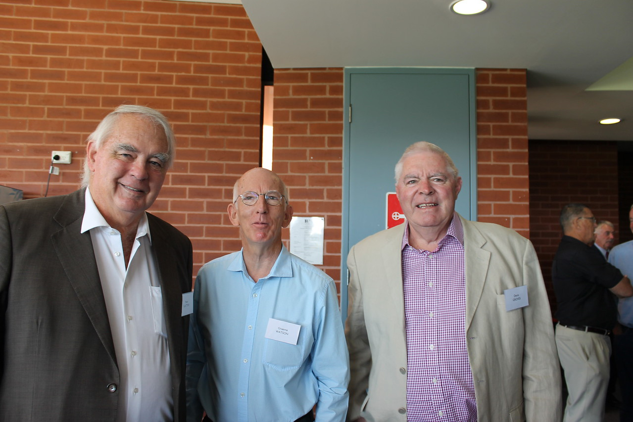 (L to R) Peter Slattery, Graeme Watson, Denis Groves
