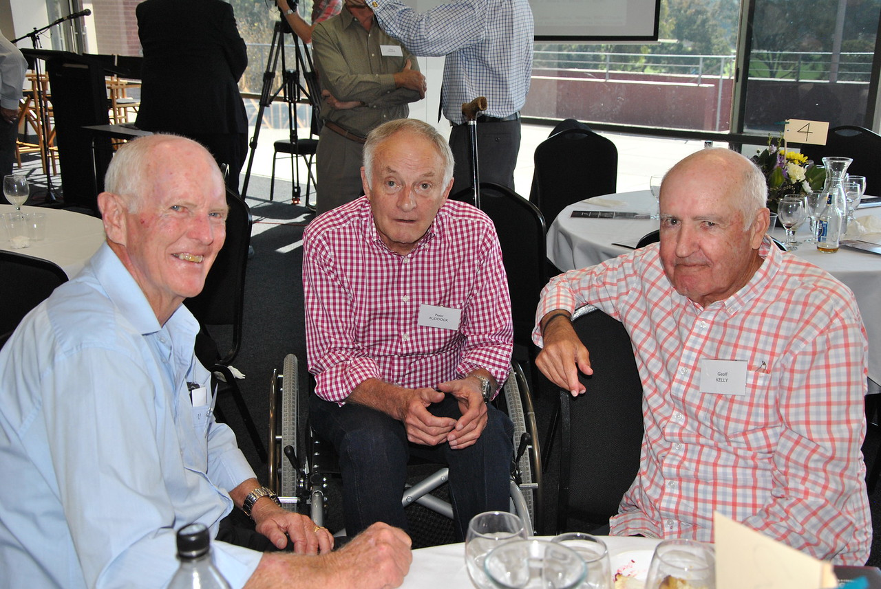 (L to R) ?, Peter Ruddock, Geoff Kelly