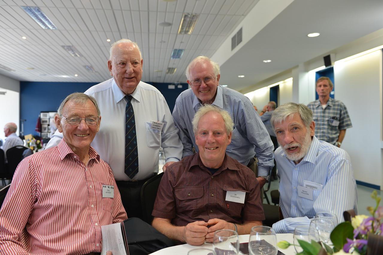 (BL) Br. Bill Dillon, John Walsh, (FL) Phillip Anthony, Bill O'Donnell, Bernard O'Sullivan