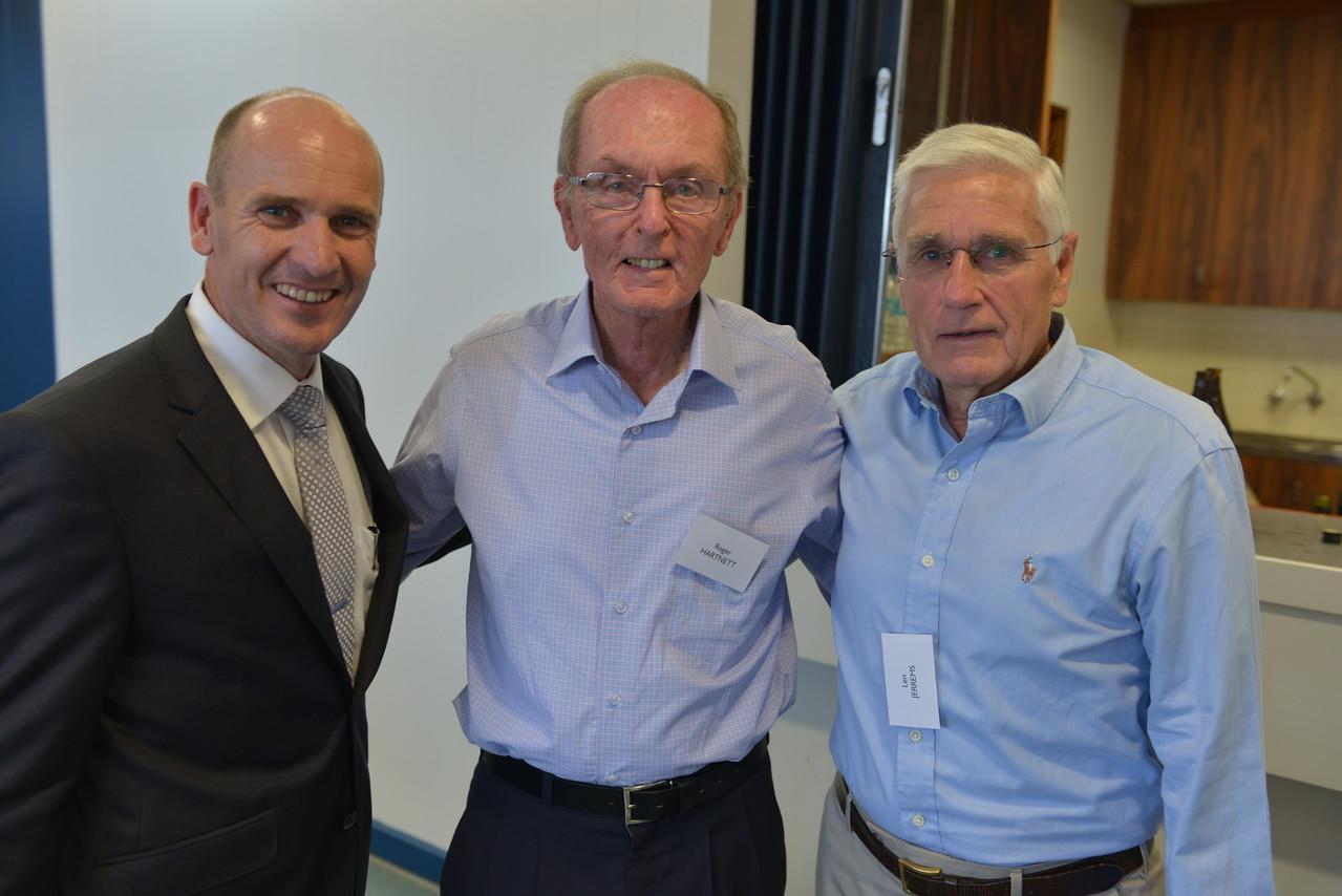 (L to R) Mark Murphy, Roger Hartnett, Len Jerrems