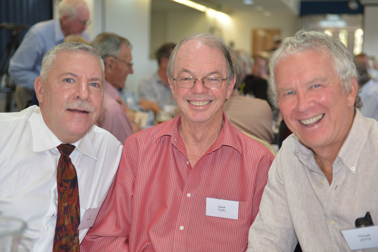 (L to R) Jim Derum, Geoff Tory, Michael Joyce