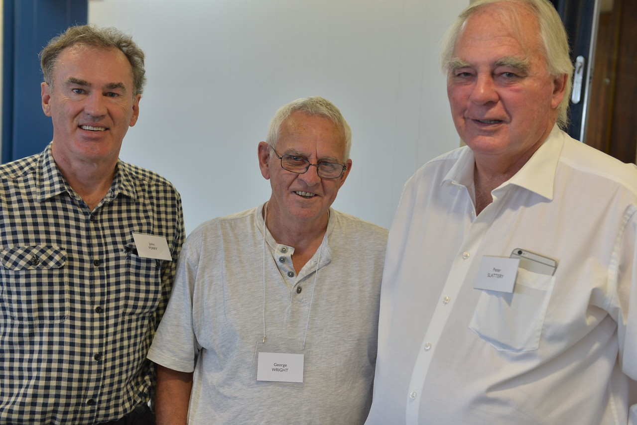 (L to R) John Perry, George Wright, Peter Slattery
