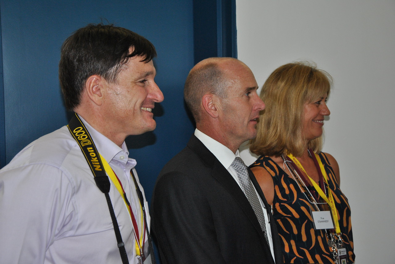 (L to R) Chris Mirabella, Mark Murphy, Prue O'Shannessy