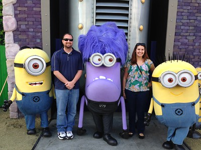 Meeting Despicable Me Minions at Super Silly Fun Land, Universal Studios Hollywood