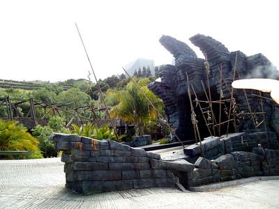 Entering King Kong 360 on the Studio Tour at Universal Studios Hollywood