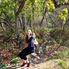Michelle on a Scary Swing Near Rock Canyon Trail in Utah