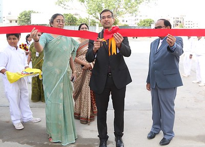 Chief guest inaugurating the Academic Fair