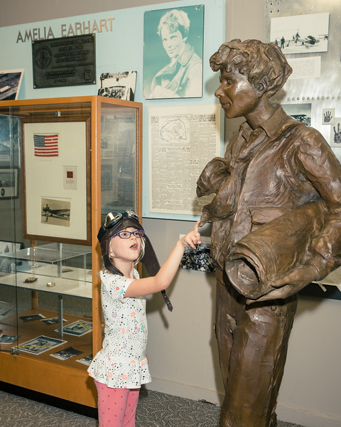 Amelia Earhart arrives at Oakland Aviation Museum