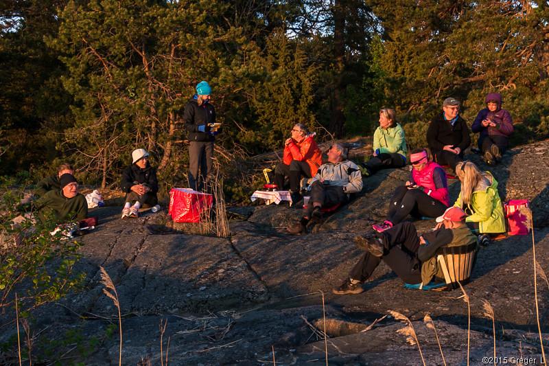 Kvällssol på västvända klippor