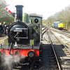 LNER Class J72 (NER Class E1) no. 69023 running round its train at North Weald on the Epping Ongar Railway.