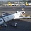Eurowings Bombardier Canadair Regional CRJ-900LR D-ACNO at Birmingham Airport.