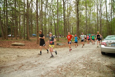 Blind Pig 100, 100k/100mile run in Spartanburg, SC on April 11, 2015.
